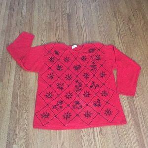Jaclyn Smith beaded sweater